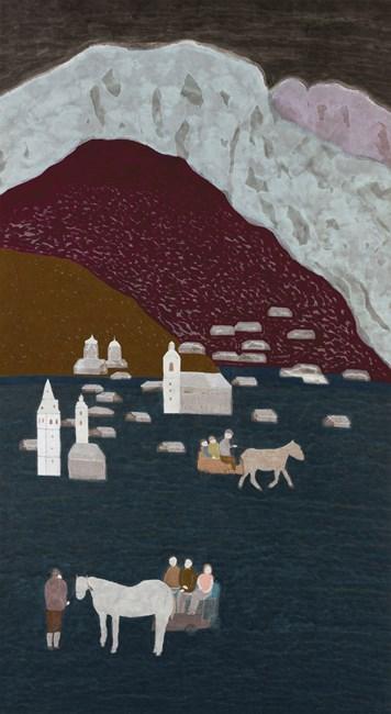 Silvery Mountain, Austria by Chu Hing-Wah contemporary artwork