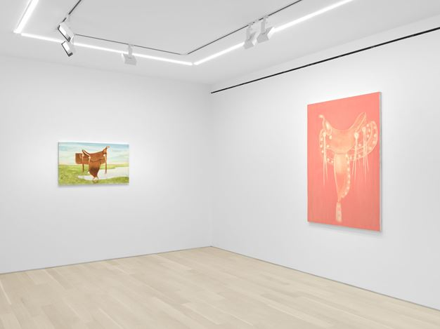 Exhibition view: Joe Andoe, Rolling Hills, Almine Rech, New York (10 July–10 August 2020). Courtesy the Artist and Almine Rech. Photo: Dan Bradica.