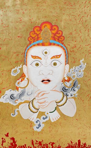 Spirit Unlimited (White) by Tsherin Sherpa contemporary artwork