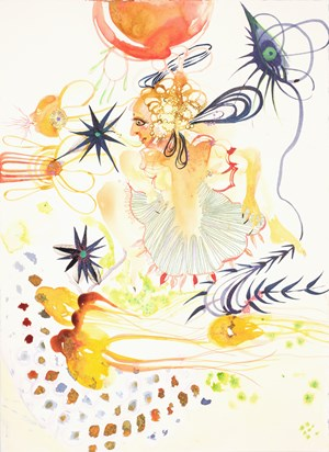 Fetal and funny they clustered around her somewhat sunny and as many. Then in a flurry she drew from them her full hurry primitive and plain she pretended to play into Darwin's danger mixed and mingled her selectivity did not wander by Rina Banerjee contemporary artwork