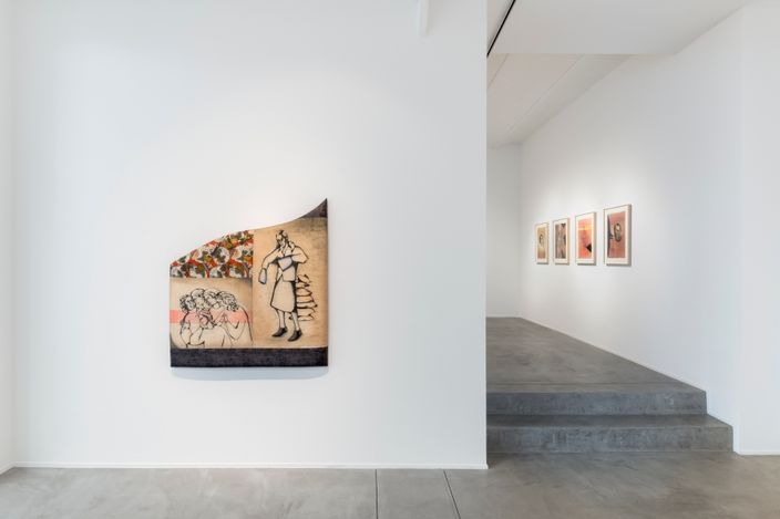 Exhibition view: Anju Dodiya,Tower of Slowness, Templon, Brussels (1 April–27 May 2021). Courtesy Templon, Paris - Brussels. Photo: Nicolas Brasseur.