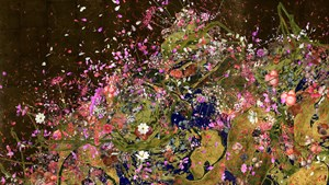 Ever Blossoming Life II - A Whole Year per Year, Gold by teamLab contemporary artwork