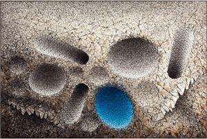 Aggregation 11 - AP025 Blue by Chun Kwang Young contemporary artwork