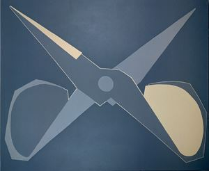 Outline, Black-grey Scissors, Open by Mao Xuhui contemporary artwork