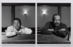 Braxton McKinney and Lavon Thomas, Birmingham, AL by Dawoud Bey contemporary artwork
