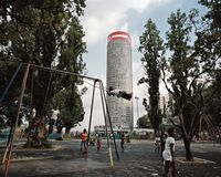 Ponte City from Donald Mackay Park (1230) by Mikhael Subotzky and Patrick Waterhouse contemporary artwork photography