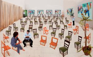 The Chairs by David Hockney contemporary artwork
