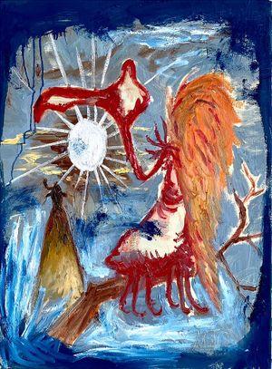 Bird of Bataan 5 by Manuel Ocampo contemporary artwork