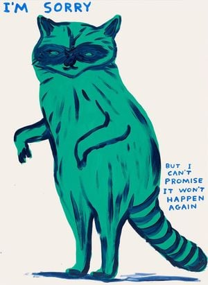 i'm sorry i can't promise it won't happen again by David Shrigley contemporary artwork print