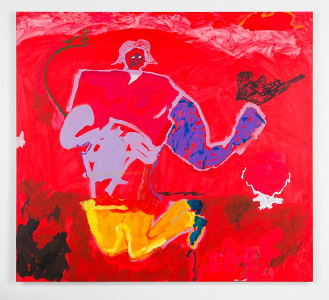 with red relief by Tom Polo contemporary artwork