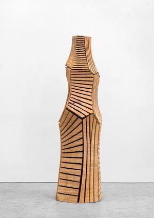 Cut Column by David Nash contemporary artwork