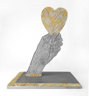 Heart in Hand by Kiki Smith contemporary artwork