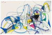 Scrambled Heads by George Condo contemporary artwork painting, works on paper, drawing