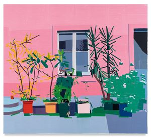 Almine Rech Courtyard by Guy Yanai contemporary artwork