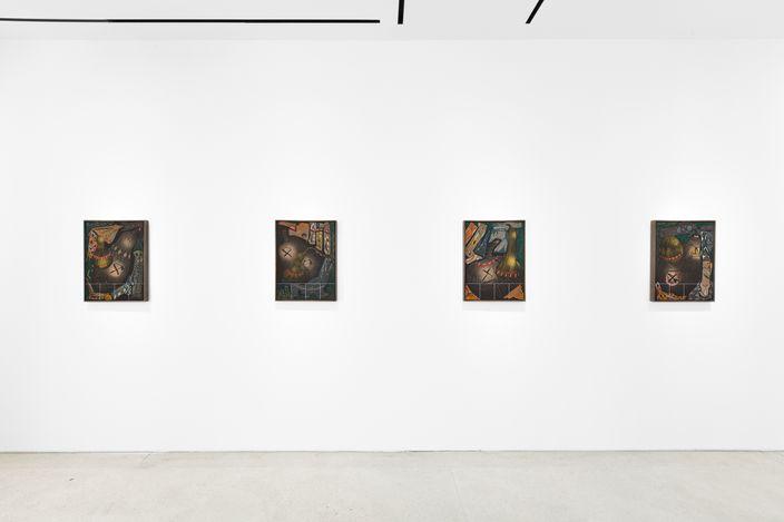 Exhibition view: Lari Pittman, Dioramas, Lévy Gorvy, Paris (19 May–31 July 2021). Courtesy Lévy Gorvy. Photo: Arthus Boutin.