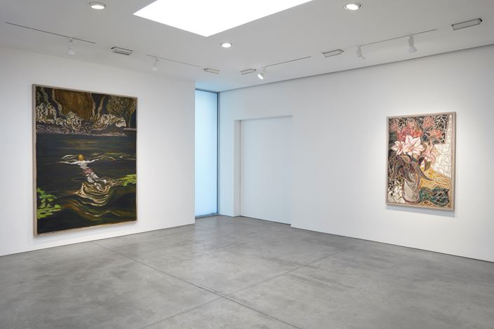 Exhibition view: Billy Childish, remember all the high and exalted things remember all the low and broken things, Lehmann Maupin, 536 West 22nd Street, New York (23 January–21 March 2020). Courtesy the artist and Lehmann Maupin, New York, Hong Kong, and Seoul. Photo: Matthew Herrmann.