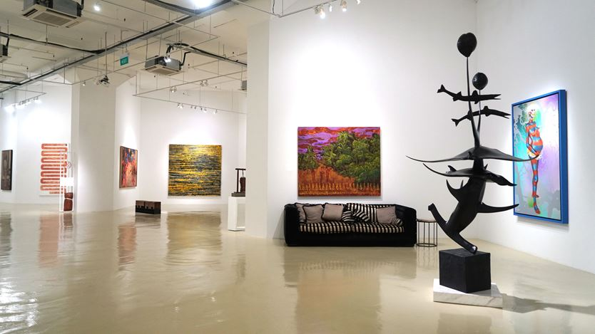Exhibition view: GENSET, Gajah Gallery, Singapore (17 January–8 March 2020). Courtesy Gajah Gallery.