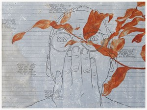 Self Portrait and Co #2 by Agus Suwage contemporary artwork
