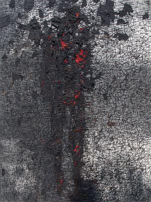 Menjadi Arang/Turning into Charcoal by Gatot Pujiarto contemporary artwork