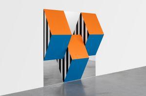 Prismes et miroirs : Haut-relief - DBPF-23, travail situé by Daniel Buren contemporary artwork