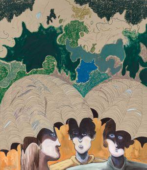 L'Ombrelle à Trois by Pierre Knop contemporary artwork