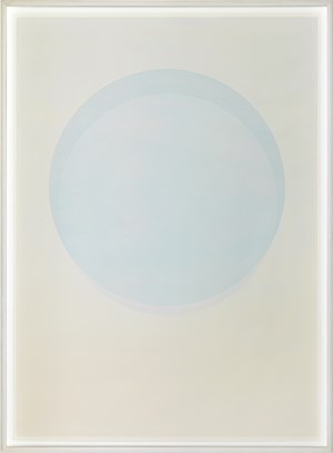 Large watercolour blue circle by Olafur Eliasson contemporary artwork