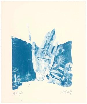 Hong Hai'er Putting in Earrings 1 紅孩兒戴耳環 1 by Liu Xiaodong contemporary artwork