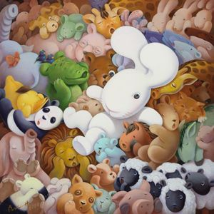 When you're the one, everybody wants a piece of you by Benrei Huang contemporary artwork