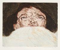 Im Bett - Gesichtslandschaft III by Marwan contemporary artwork print