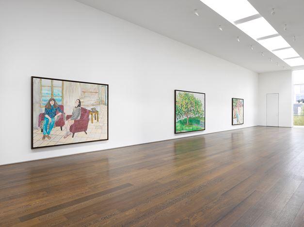 Exhibition view:María Berrío, Flowered Songs and Broken Currents,Victoria Miro, Wharf Road, London (6 October–24 November 2020). © María Berrío. Courtesy the artist and Victoria Miro.