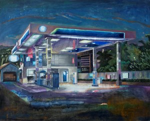 Night - Gas Station by Dongwook Suh contemporary artwork