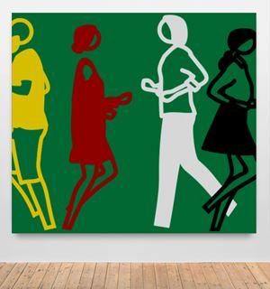 Dave Teresa Mark Padmini 2 by Julian Opie contemporary artwork
