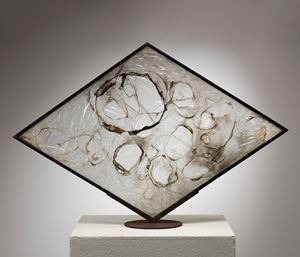 COMBUSTIONE PLASTICA by Alberto Burri contemporary artwork sculpture