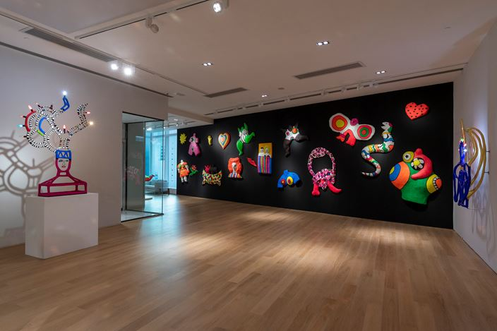 Exhibition view: Niki de Saint Phalle, Solo Exhibition, Tang Contemporary Art, Hong Kong (12 July–17 August 2019). Courtesy Tang Contemporary Art.