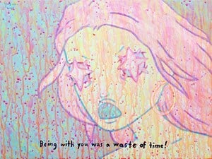 BEING WITH YOU WAS A WASTE OF TIME by Yeo Kaa contemporary artwork