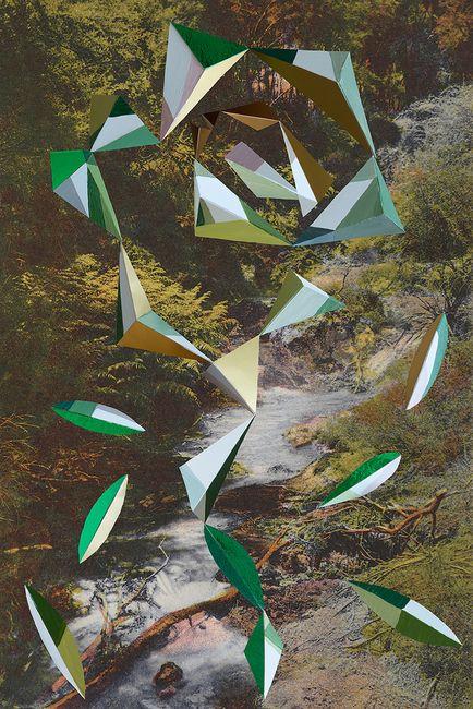 Wairakei Stream, Smithson / Matta-Clark by Kate Woods contemporary artwork