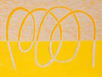 Orange-yellow by Claudia Terstappen contemporary artwork print