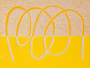Orange-yellow by Claudia Terstappen contemporary artwork