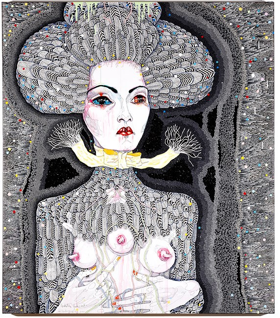 satellite fade-out by Del Kathryn Barton contemporary artwork