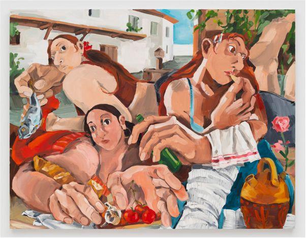 Sarah BanBan,Manchego (2021). Oil on canvas. 152 cm x 203 cm. Courtesy of the artrist and Perrotin, Shanghai. Photo: Charles Benton.