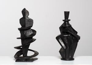 Duo (His and Hers) by William Kentridge contemporary artwork
