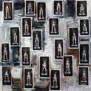 ALLSTARS - drunk on power: myopic men of 2020 by Fiona Hall contemporary artwork painting, works on paper, sculpture