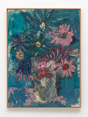 Flowers (Midnight Blue) by Daniel Crews-Chubb contemporary artwork