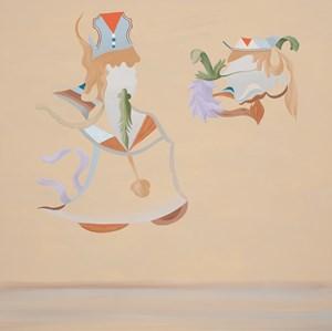 Figure Considering a Head by Michelle Hanlin contemporary artwork