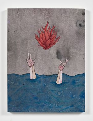 I know that my memory of you will live even there as I too become a child of the sea by Felipe Baeza contemporary artwork