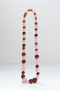 Collier Rose Mica et Ambre Mica by Jean-Michel Othoniel contemporary artwork sculpture