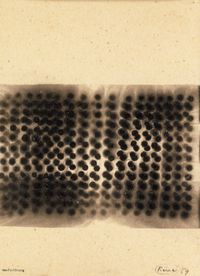 Rauchzeichnung by Otto Piene contemporary artwork works on paper, drawing, mixed media