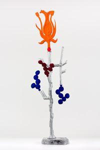 Biomorph nasturtium by Caroline Rothwell contemporary artwork sculpture