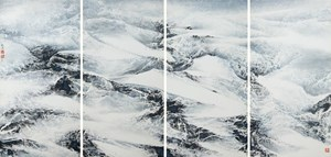 Dance of Wind and Snow by Liu Guosong contemporary artwork