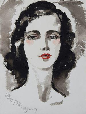Portrait de jeune femme by Kees Van Dongen contemporary artwork